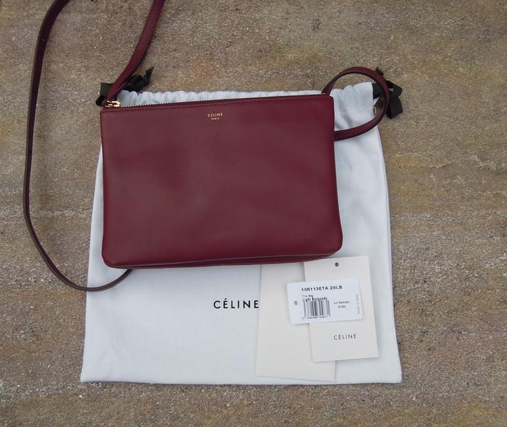 Celine Trio Bag in Burgundy | Bags | Pinterest | Burgundy, Celine ...