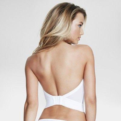 Dominique Backless, Strapless Balconet Bridal Bra #6377 - White 32DD, Women's