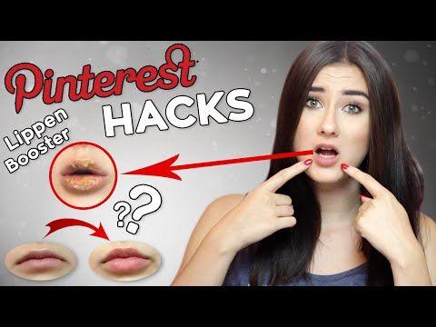 5 PINTEREST BEAUTY HACKS die ihr sofort nachmachen könnt I LIPPEN VERGRÖßERN I Sara Isabel - YouTube
