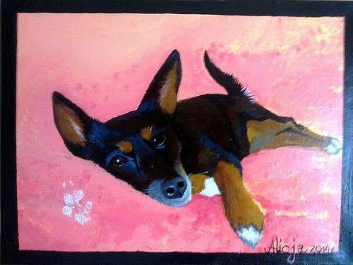 Diana, pies, malarstwo