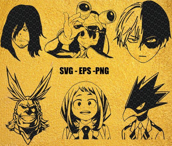 Pin By Ashley Lincoln On Silhouette My Hero Academia Character Drawing My Hero