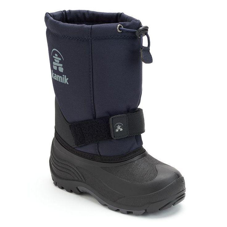 Kamik Rocket Kids' Winter Boots, Kids Unisex, Size: 10 T, Blue (Navy)