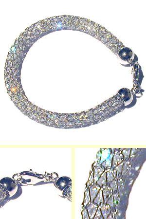 Italian 8mm Crystal Mesh Bracelet