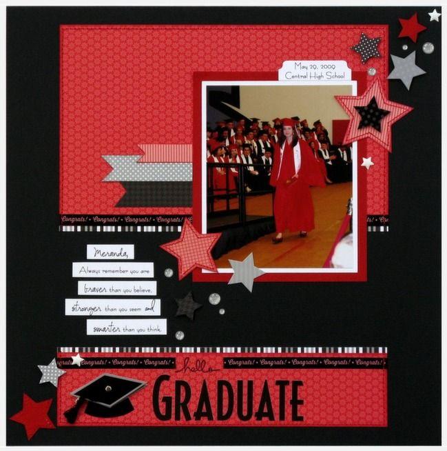 graduation scrapbook page by mendi yoshikawas @ shimelle.com  Craig graduation