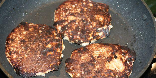 Pandekager med havregryn uden æg