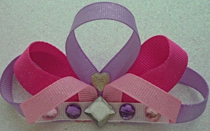 Pretty Princess Crown Boutique Hair Bows/Ribbon/Flatbacks #RazzleDazzleMe