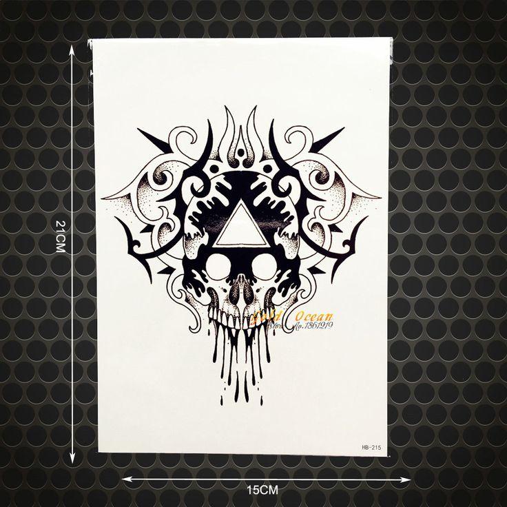 1-PC-Iblis-Damon-Totem-Tato-Palsu-Tahan-Air-Hitam-Pria-Pola-tengkorak-Darah-Palsu-Flash.jpg (1000×1000)