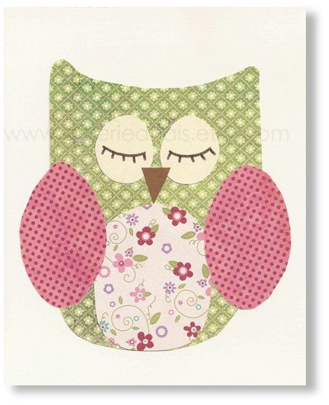 girl nursery owl