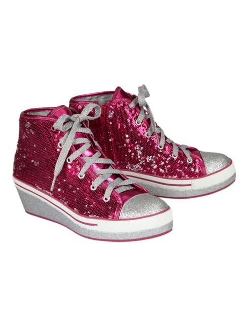 Sequin High Top Wedge Sneakers | Girls Sneakers Shoes | Shop Justice