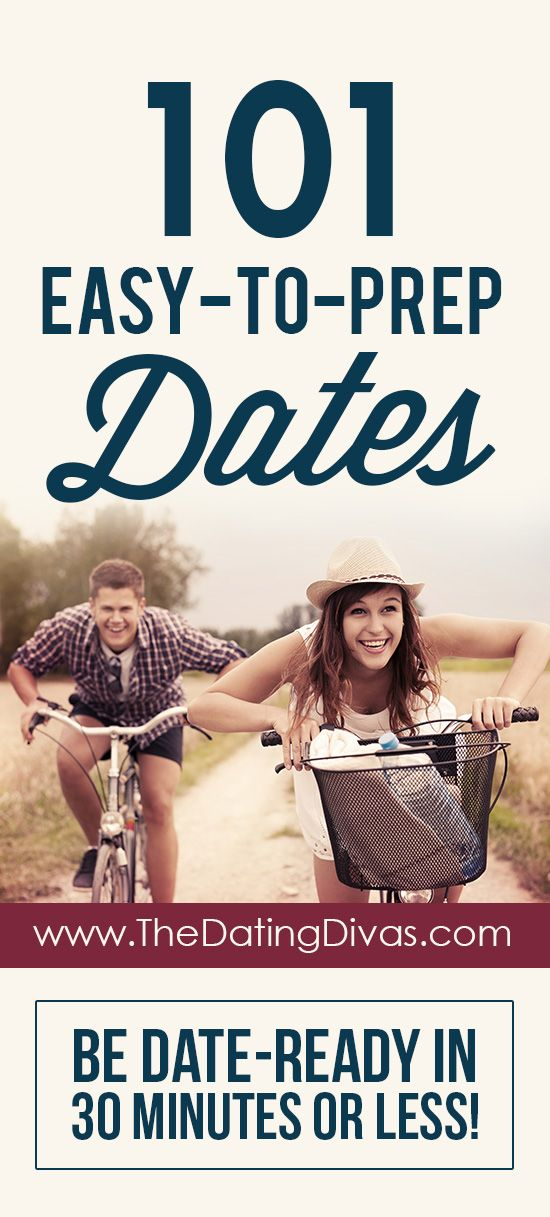 My go-to list of dates when I don't have time to plan! www.TheDatingDivas.com