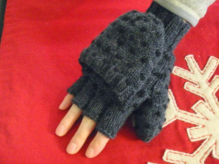 Convertible Thrummed Mittens- Free Knitting Pattern from Autumn Hill Llamas & Fiber