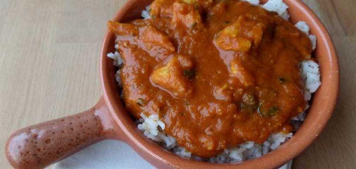 Pompoen Kokos Curry met Kip en Rijst