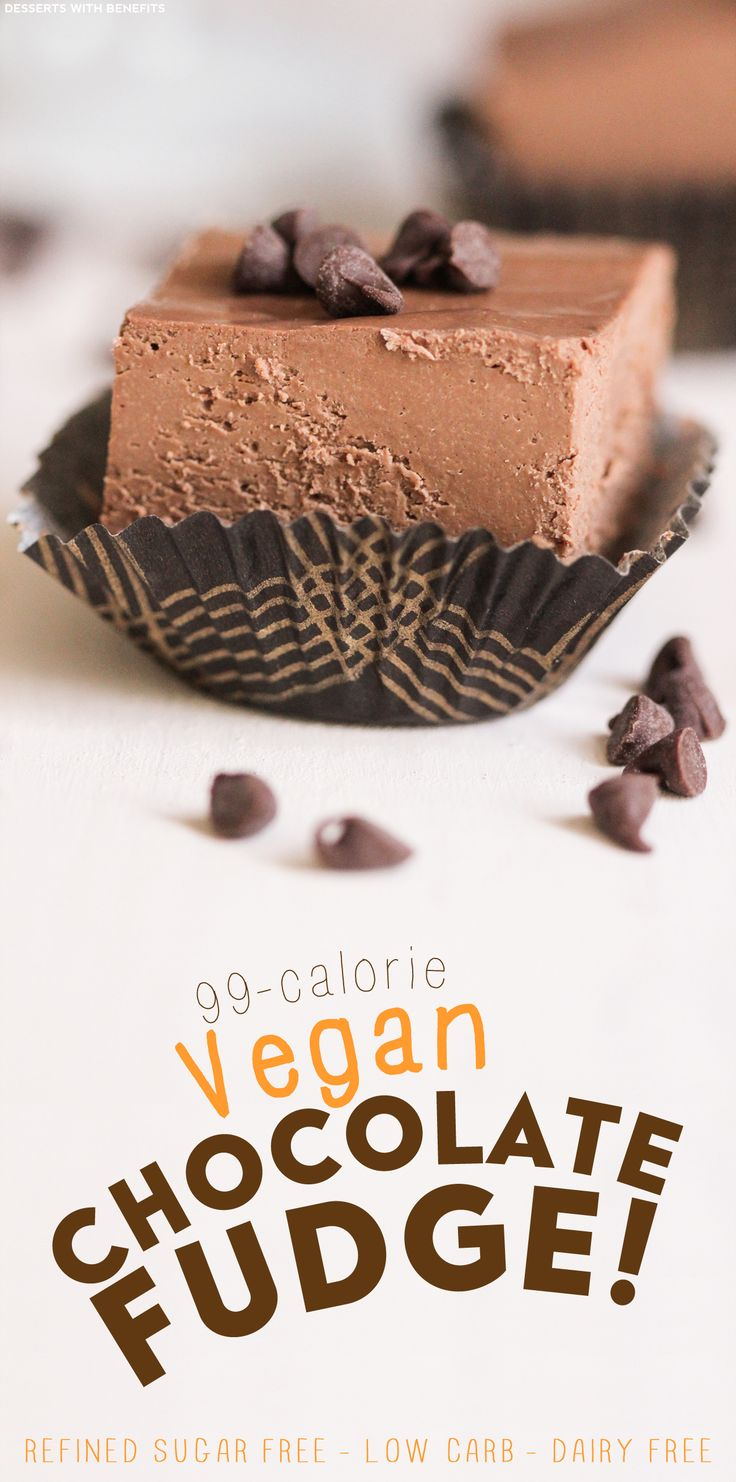 Healthy Vegan Dark Chocolate Fudge (refined sugar free, low carb, gluten free, dairy free) - Healthy Dessert Recipes at Desserts with Benefits