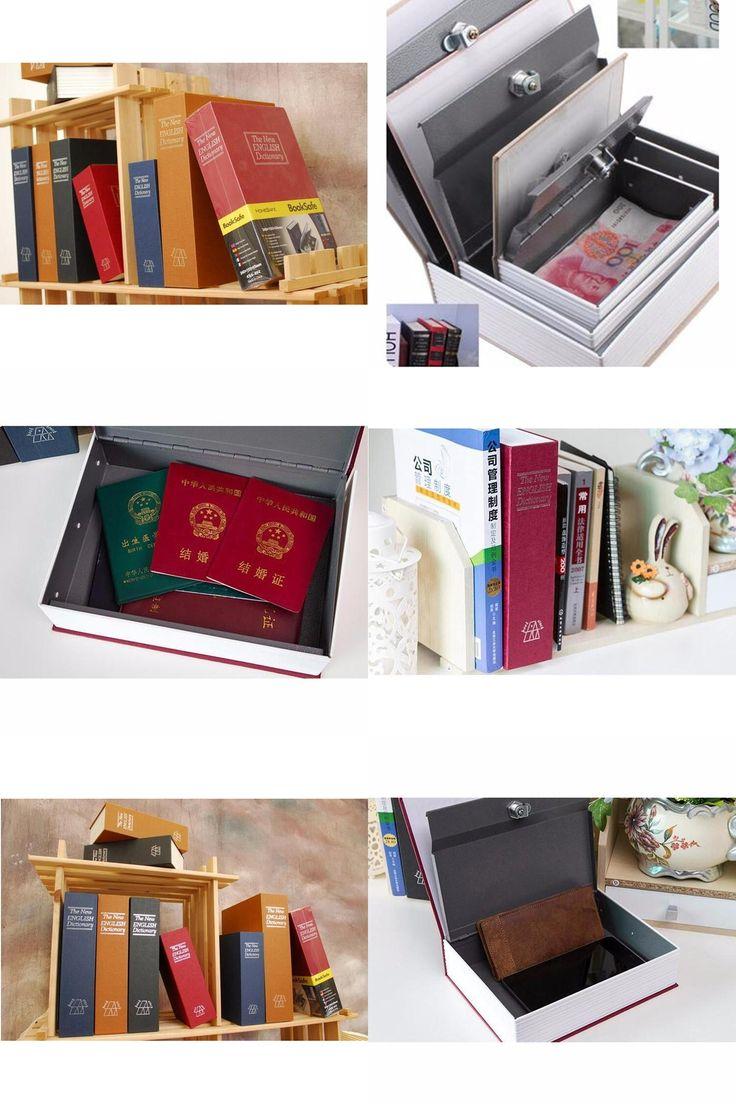 [Visit to Buy] Youe shone Storage Box Dictionary Secret Book Safe Bank Money Hidden Secret Security Locker Cash Jewellery Key Lock #Advertisement
