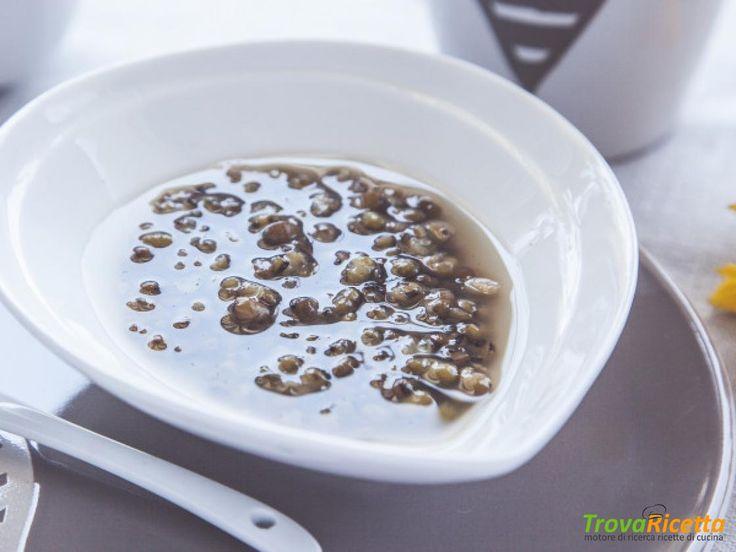 Una colazione leggera e gustosa con la zuppa dolce di fagioli di soia verde  #ricette #food #recipes
