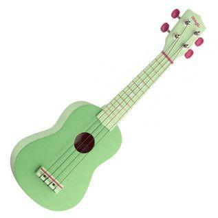 Stagg sopran Ukulele & taske, græs grøn hos Gear4Music.com