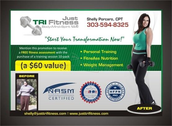 Just Tri Fitness newpaper ad design from YourDesignPick.