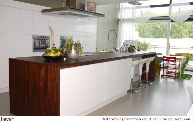 Keukeneiland donder houten blad kitchen pinterest - Keuken uitgerust voor klein gebied ...