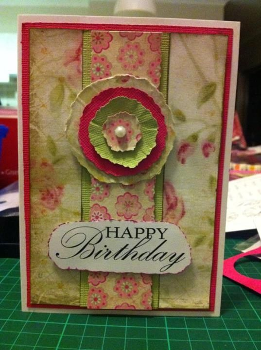 One of my cards that I love. I used 'vintage pearls' kit from Kaszazz and just love the results.