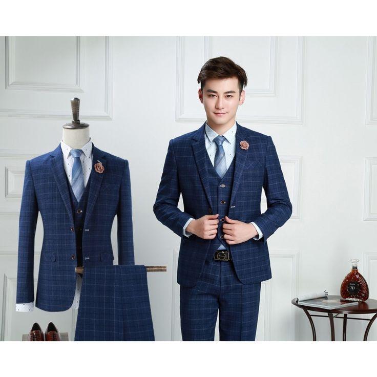 costume 3 pices carreaux cossais pour homme vintage - Costume Homme 3 Pieces Mariage