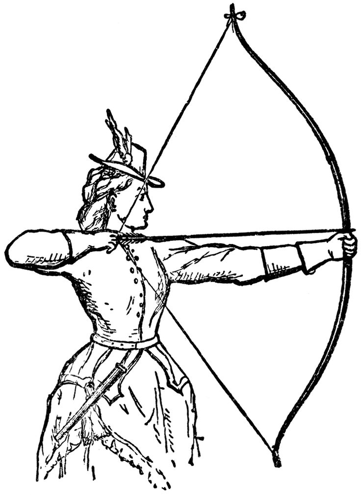 8 best archery coloring pages images on pinterest for Crossbow coloring pages