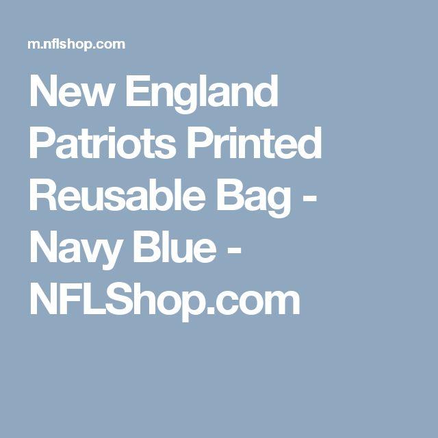 New England Patriots Printed Reusable Bag - Navy Blue - NFLShop.com