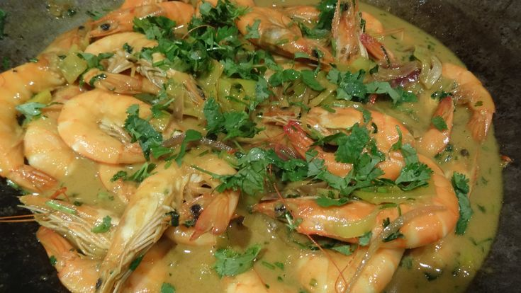 Thaise gamba's - gezond en heel lekker, recept op http://www.coachinge.nu/thaise-gambas/