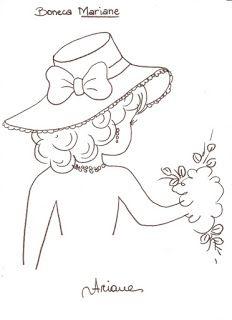 DORIANA ARTESANATOS: Riscos de bonecas PARA PANOS DE PRATOS / gráficos de vestidos de croche-amo tudo isso