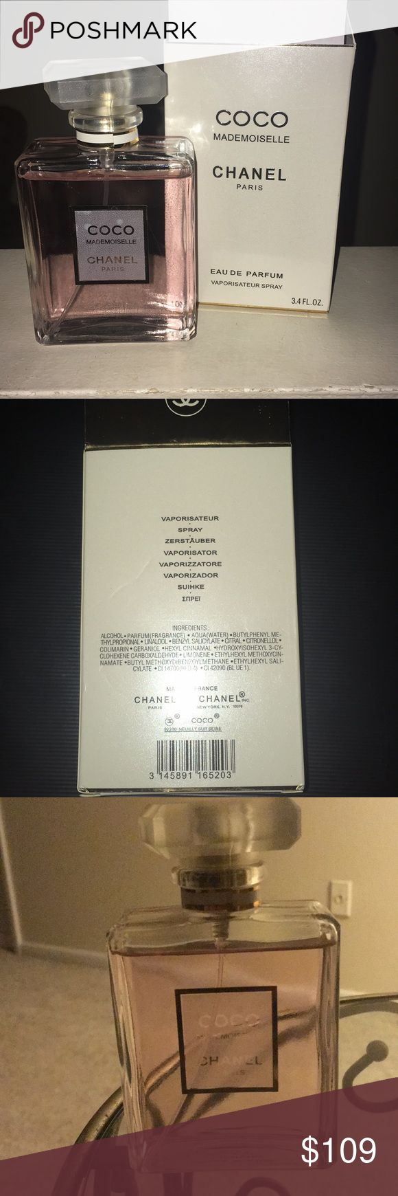 New Auth. Chanel Coco Mademoiselle Authentic/from Macy's. Full bottle, sprayed 2x.  100 ml. This is more of an evening perfume (unlike 'Chance'), stays on much longer.   Ships within 24 to 48 hours.   📦 discounted shipping available   Free 🎁 with any purchase CHANEL Other