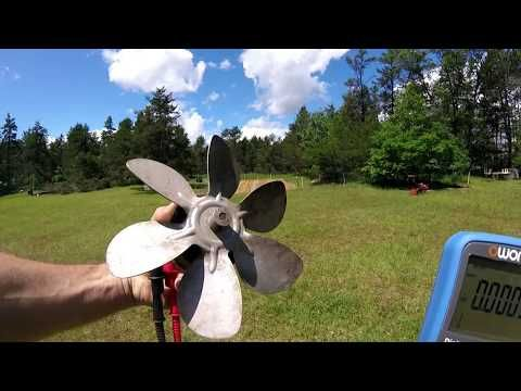 Normal AC Fan Motor Produces Electricity In The Wind - YouTube
