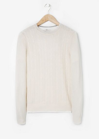 Mango H.E. Cable-knit cashmere sweater