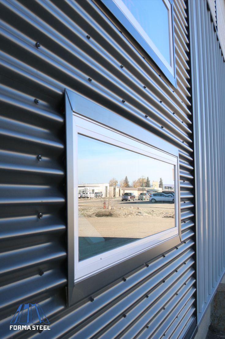 Black Metal Corrugated Siding Facade Architecture House Cladding Corrugated Metal Siding