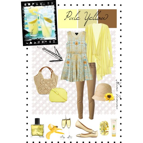 My Summer Colour Palette: Pale Yellow. Inspiration: Picnic in the park on a lazy afternoon.