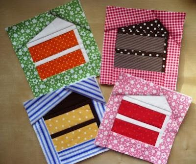 Slice of cake ~ paper piecing - I think a bunch of these would be cute on a tablecloth, maybe as a border