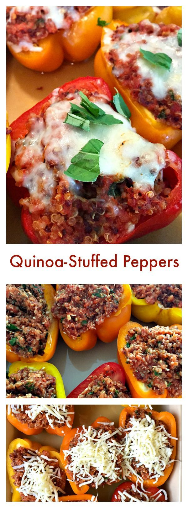 These Skinnytaste Quinoa-Stuffed Peppers are delicous served as a gluten-free main dish for Meatless Monday's, or as a side for any dinner party!