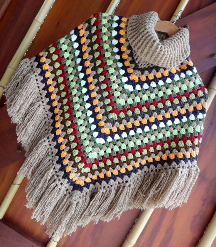 Poncho Colorido - Fácil Rápido e Com Todas Medidas