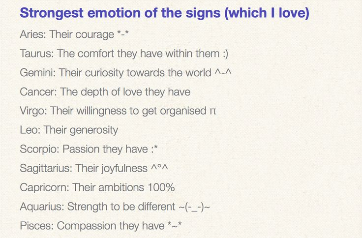 Which zodiac sign is the strongest emotionally