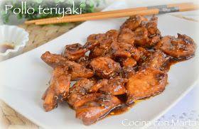 Receta de pollo teriyaki casera, con salsa de soja. Fácil y rápida.