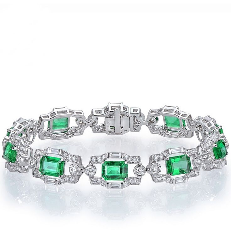 Emerald Diamond Bracelet