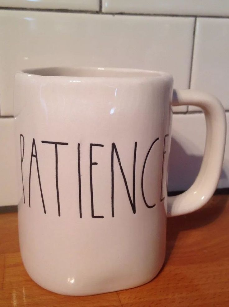 NEW! Rae Dunn Artisan Collection by By Magenta PATIENCE Big Letters Coffee Mug  | eBay