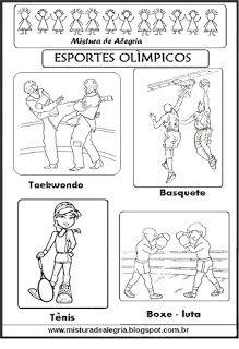 Esportes olímpicos para colorir                                                                                                                                                      Mais