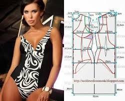 Resultado de imagen para patrones vestidos de baño