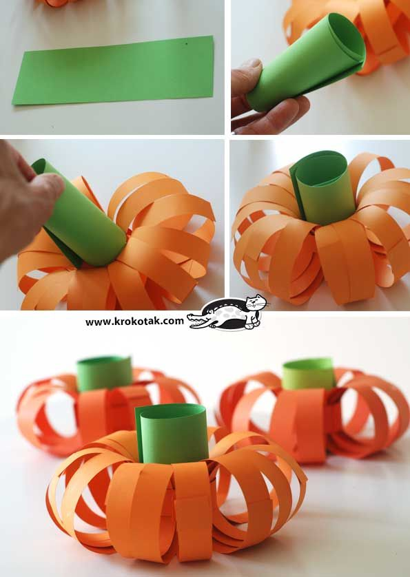 krokotak | New and easier way to make a paper pumpkin
