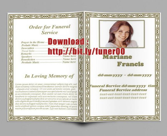 funeral phlets templates free.html