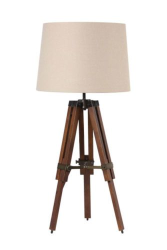 Surveyors antique restoration table lamp wood transit for Restore wooden floor lamp