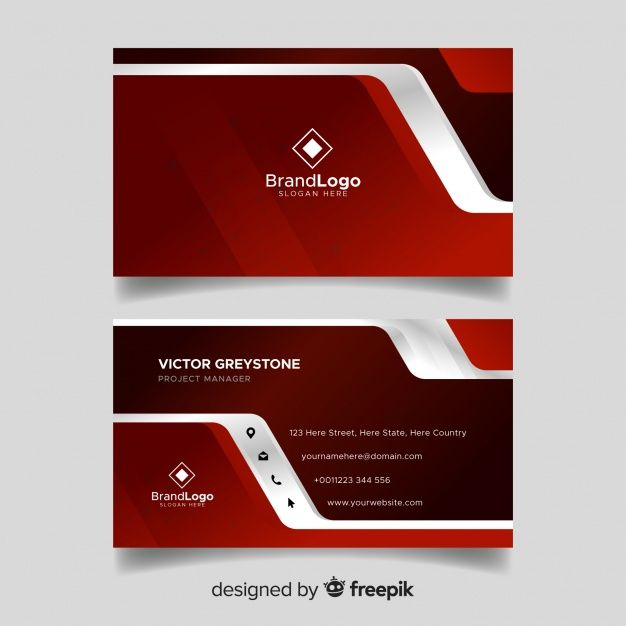 Modern Business Card Template With Geome Free Vector Freepik Freevec Modern Business Cards Free Business Card Design Free Business Card Design Templates