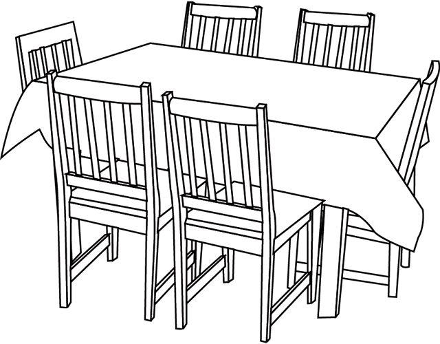 Stuhl bleistiftzeichnung  68 besten Ausmalbilder Möbel Bilder auf Pinterest | Drawing, Musik ...