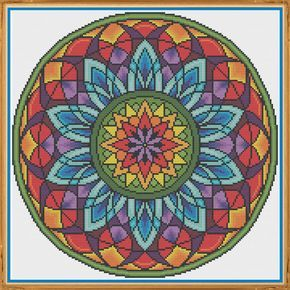 Mandala 3  Window  Counted Cross Stitch Pattern X-Stitch