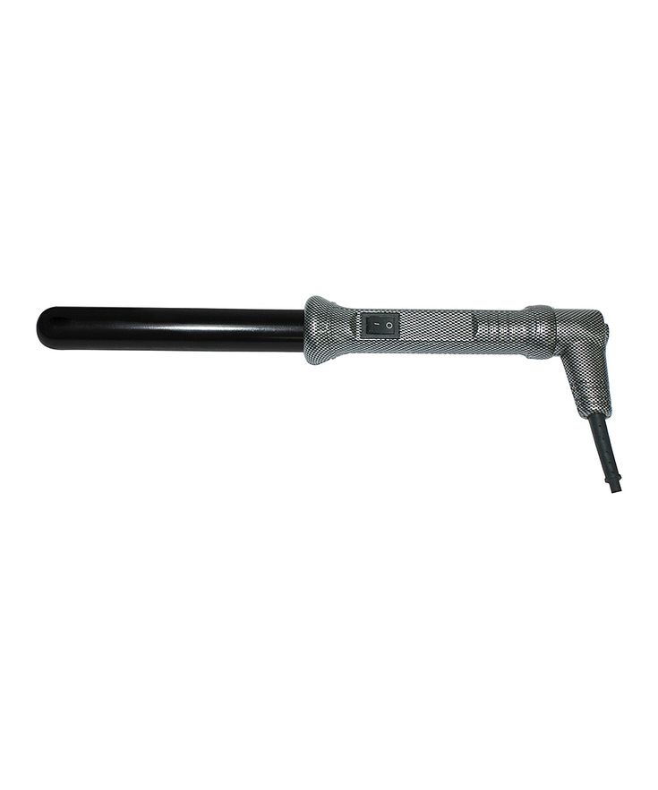 1'' Silver & Black Ionic Clipless Curling Iron