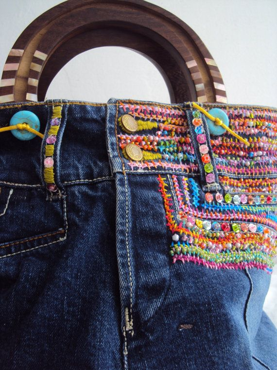 INSPIRATION ONLY :  SALE Ultimate Purse Embroidered Beaded by JaneCohenArtfulBags